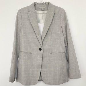 H&M Light Gray Plaid Blazer